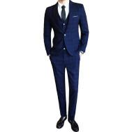 Slim-fit Fashion Suit Three-piece Men's Casual Suit