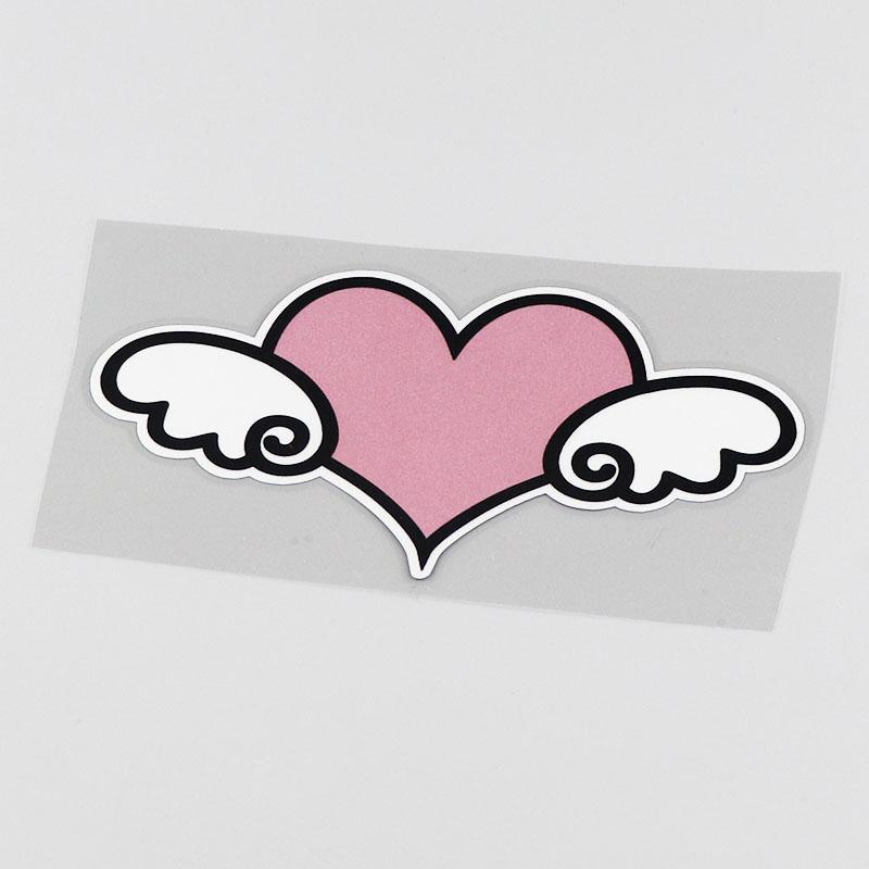 Sticker cœur ailes d'ange