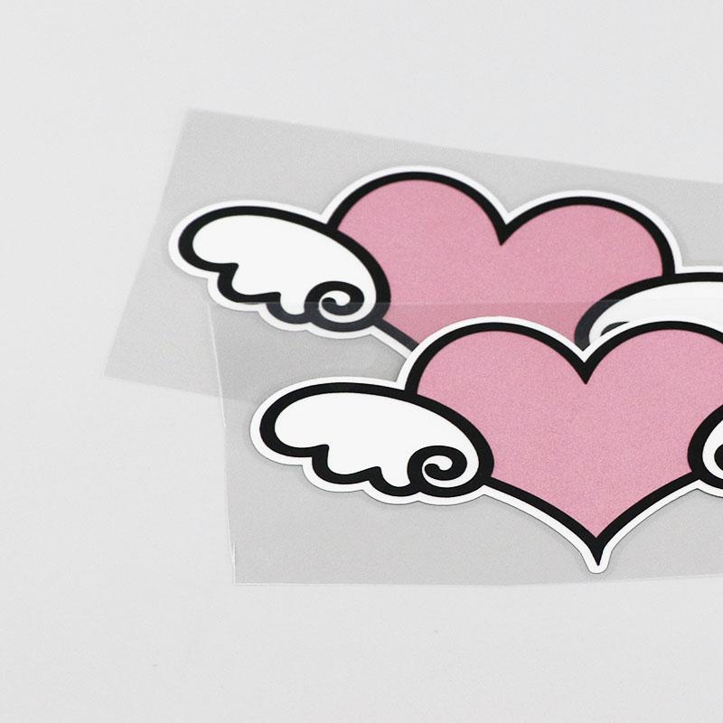 Autocollant cœur ailes ange