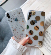 Simple Iphone11Pro Mobile Phone Shell Apple X Transparent Soft Shell Hot Stamping 8P7P Love Stars 12