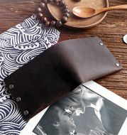 Leather Top Layer Cowhide Horizontal Wallet