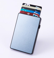 Aluminum Alloy Automatic Bullet Card Anti-theft Bank Card Box