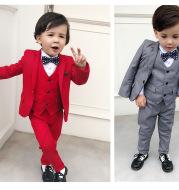 New Casual British Three-Piece Boy Suit