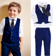 Casual Clothing Suits Boys' Clothes Vests Gentleman Suits