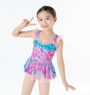 Girls Mermaid Gauze Skirt Dress Little Princess Swimsuit
