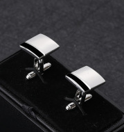 Simple And Creative Square Black And White Stitching French Men's Business Shirt Cufflinks