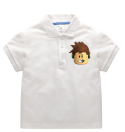 Children's Lapel Children's Clothing Summer Boys Half-Sleeved Cotton Baby T-Shirt