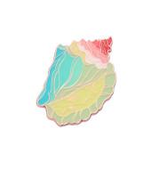 Original Design Multicolored Metal Conch Badge Brooch
