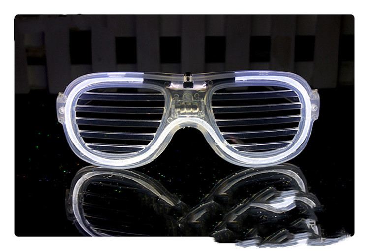 Luminous Glasses LED Light Up Glasses Party Decoration Purple Color Luminous Shutter Shades Glow Glasses Children Adults Holiday Accessories Gift