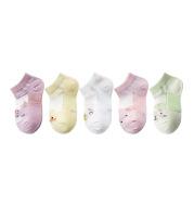 Thin Breathable Mesh Card Silk Boat Socks