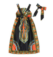 African Children's Bohemian Style Sleeveless Suspender Dress