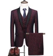 Slim Suit Three-piece Casual Plaid Suit