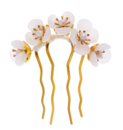 Hanfu Costume Handmade Hairpin Flower Pearl Headdress Hairpin Antique Hair Accessories