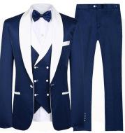 Business Casual Suit Male Three-piece Suit Groom Best Man Wedding Banquet Suit Male