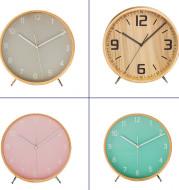 European Style Simple Pointer Wood Quartz Table Clock