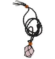 Mesh Bag Moonstone Necklace Handmade Adjustable Necklace Rope Necklace