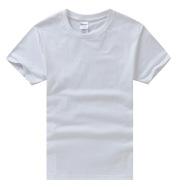 Cotton Round Neck T-Shirt Custom Student Short Sleeves