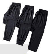 New Lightweight Breathable Mens Trousers Leisure Sports Large Size Feet Ice Silk Quick Drying Air Conditioning Pants