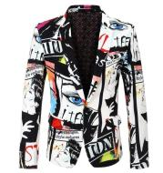 Printed Jacket Single Row One Button
