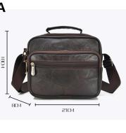 Full Head Layer Sheepskin Soft Leather Shoulder Diagonal Bag Men's Leather