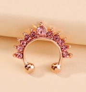 Multicolor Diamond-Studded Colored Diamond Nose Ring Pierced Nose Nail Jewelry Accessories