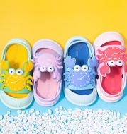 Cute Cartoon Boys And Girls Baotou Sandals Baby Non-slip Beach Slippers