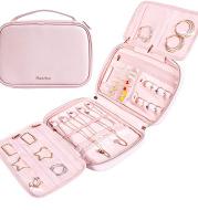 PU Waterproof Material Multifunctional Portable Travel Jewelry Storage Bag