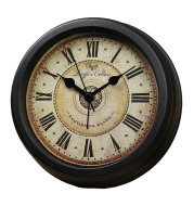 European Style Retro Desk Clock Creative Silent Alarm Clock