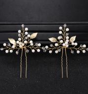 Wedding Jewelry Simple New Bride Headdress Pearl Rhinestone Hairpin Pin Wedding Jewelry Accessories