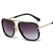 96917 Explosive Sunglasses Men Retro Metal Big Frame Couple Toad Mirror Sunglasses