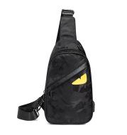Cross-Border Amazon USB Chest Bag Male Trend Waterproof Oxford Cloth Shoulder Messenger Bag Multifunctional Outdoor Satchel