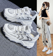 Summer New women's Shoes Leather Mesh Beathable