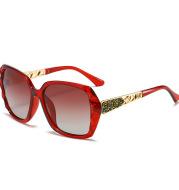 Fashion Retro Polarized Sunglasses Trend Big Frame European And American Diamond Sunglasses