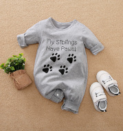 2021 spring NEW BABY BODYSUIT cartoon English Pullover baby clothes