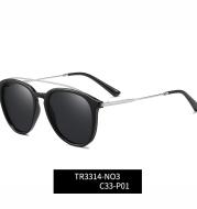 Round Frame UV Protection Polarized Sunglasses
