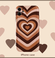 Gradient Love Apple Full Covered Edge 12 Mobile Phone Case Se2 Cover