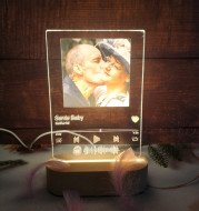 Custom Spotify Note Night Light 3D Dimmable USB Power Customized Colrful Photo Home Decor Festival Gift