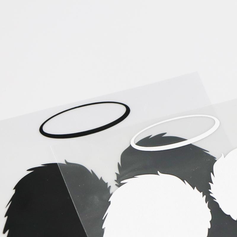 Sticker ailes d'ange noir et blanc