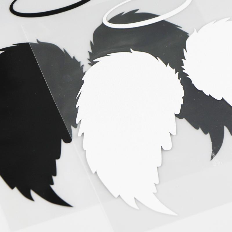 Stickers ailes ange noir et blanc