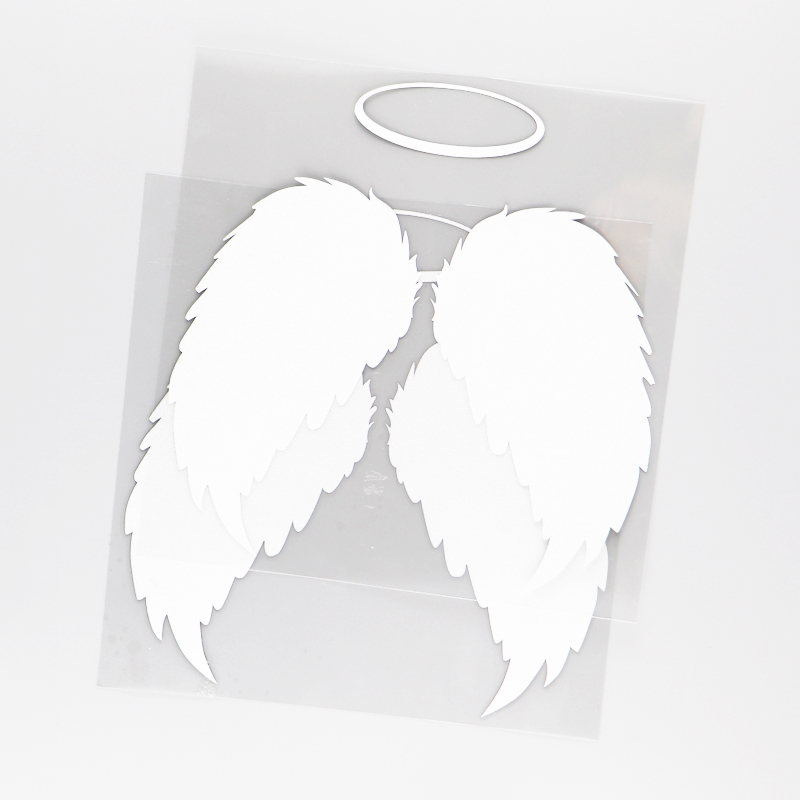 Sticker ailes ange blanc