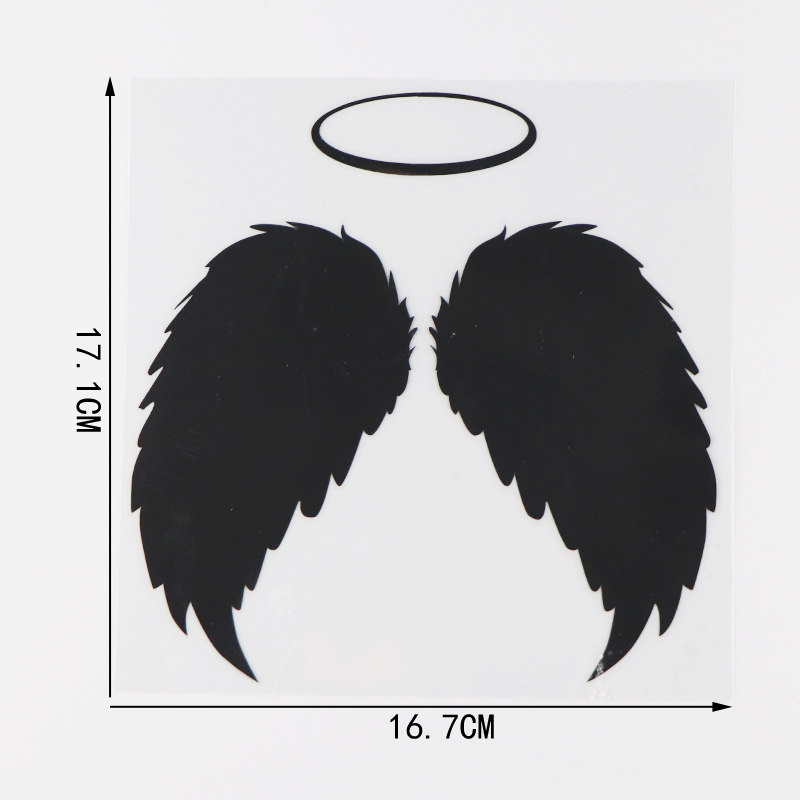 Sticker ange dimensions