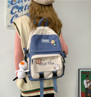 Japanese Harajuku Girl Backpack Korean Ins College Student Schoolbag Female Simple Korean Style College Style Backpack