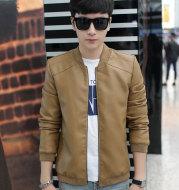 New Men's Jacket Leisure Fashion Youth Slim PU Leather Men's Coat Men's Coat