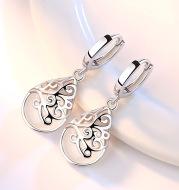 925 Silver-Plated Fashion Trend Moonlight Opal Totem Ear Jewelry Earrings Earrings Women's Wishing Pool Personality Earrings