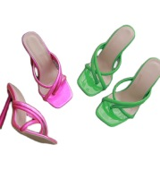 Women's Cross-strap Super High-heel Flip Flops Plus Size Sandals And Slippers