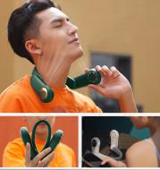 Mini Personal Hanging Neck Fan USB Rechargeable Wearable Portable Neckband Summer Sports Fan Household Silent Fan Radiator