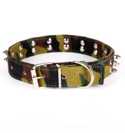 Camouflage Canvas Spiked Nail Decoration Pet Supplies