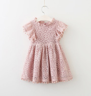 New Lace Flying Sleeve Princess Hollow Dress