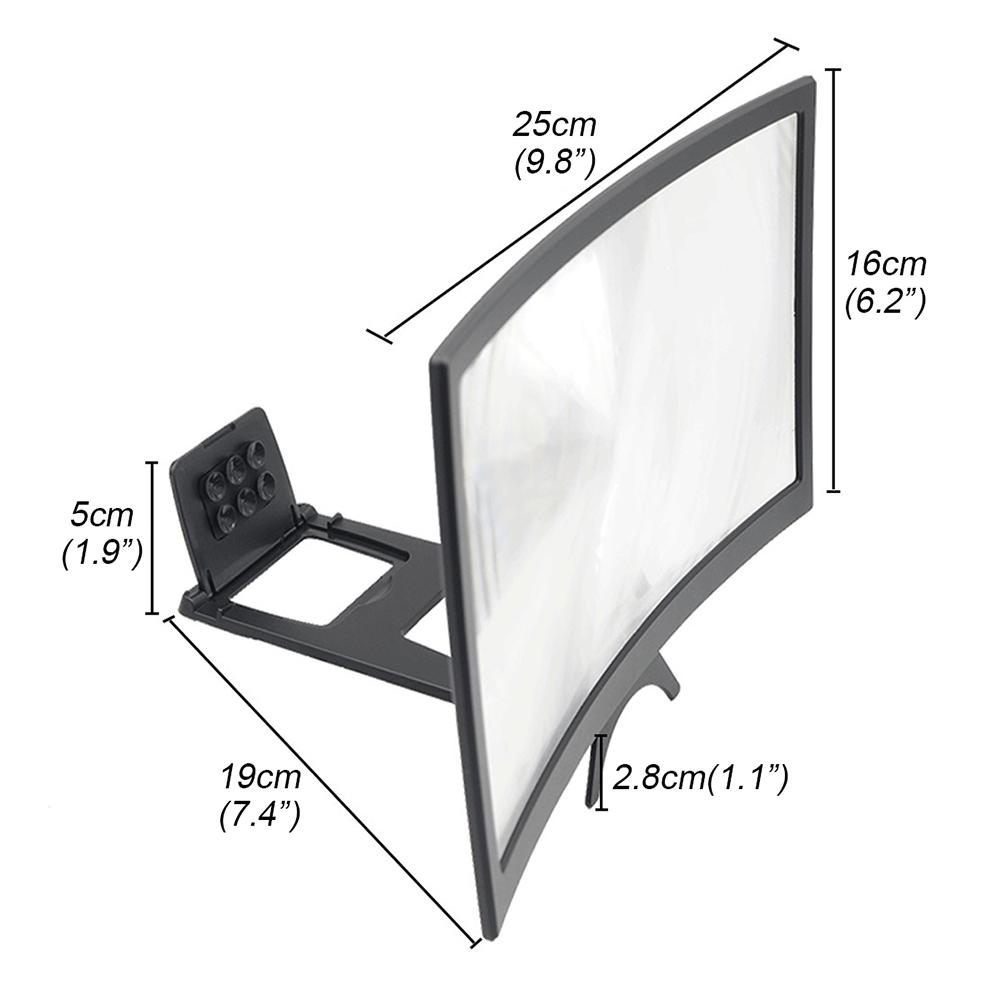12 inch Mobile Screen Magnifier Bracket Cellphone Movie Display Amplifier Holder Bracket