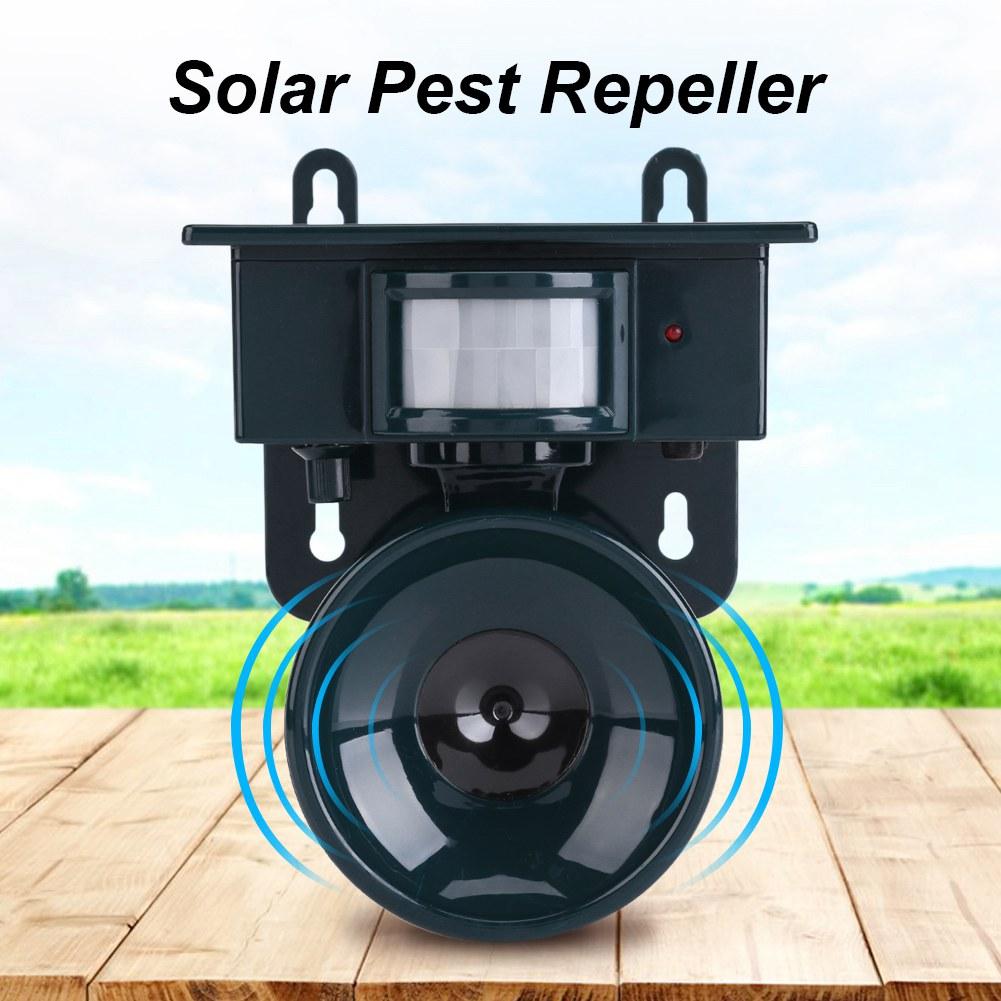 Solar Powered Motion Sensor Ultrasonic  Bird Dog Cat Fox Mouse Pest Repeller